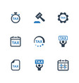 tax service icons vector image vector image