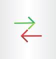 two arrows direction symbol vector image