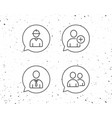 users group engineer and businessman icons vector image