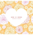 warm day flowers heart silhouette pattern frame vector image vector image