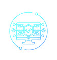 website security testing line icon vector image