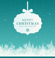 winter christmas composition merry christmas text vector image