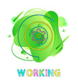 working gear wheel and abstract liquid backdrop vector image