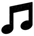 Music Notes Grainy Texture Icon vector image