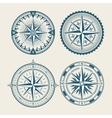 Vintage marine compass logo set vector image