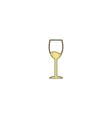 wineglass computer symbol vector image