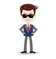 Animation cartoon character super-agent spy vector image