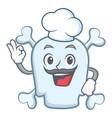 chef skull character cartoon style vector image