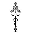 crux serpentines the serpent cross vector image