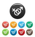 female and man gender symbol icons set vector image