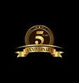 5th years anniversary logo template design