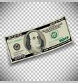 A 100 dollar bill vector image