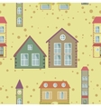 a colorful city seamless pattern vector image