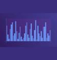 abstract financial chart vector image vector image