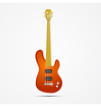 Abstract Orange Bass Guitar Isolated on Grey vector image vector image