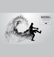 abstract silhouette of a baseball player pitcher vector image vector image