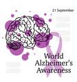 alzheimer awareness day vector image vector image