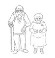 an elderly couple an old vector image