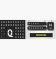 analog scoreboard alphabet and airport vector image