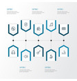 audio outline icons set collection of plastic vector image vector image