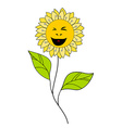 Beautiful smiling flower Floral Design Element vector image vector image