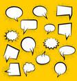 blank speech bubble vector image vector image