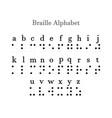 braille alphabet a-z letters vector image