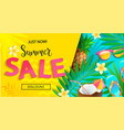 bright sale banner for summer 2020 vector image vector image