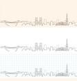 bristol hand drawn profile skyline vector image vector image