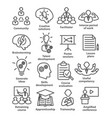 business management line icons pack 31 vector image vector image