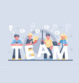 business people working together vector image