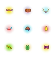 Camp icons set pop-art style vector image vector image