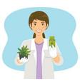 cannabis in medicine vector image