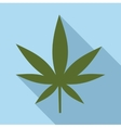Cannabis leaf icon flat style vector image vector image
