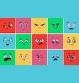 cartoon face expressions surprising look faces vector image