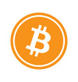 circle with bitcoin vector image vector image