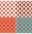 collection seamless repeating strawberry vector image vector image