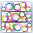 colorful banners with circles vector image vector image