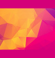 colorful geometric pink orange background with vector image