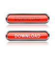 download red glass buttons oval long web icons vector image