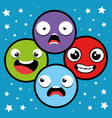 Emoji emoticon character background collection