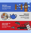 england uk travel tourism landmarks and famous vector image vector image