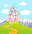 Fairy Tale Castle Landscape vector image