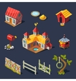 Farm Big Set of Design Elements in Modern Flat vector image vector image