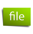 file green paper sign isolated on white vector image vector image