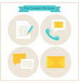 Flat Contact Me Website Icons Set vector image