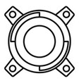 gearbox releaser icon outline style vector image