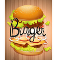Hamburger with meat and vegetables vector image vector image