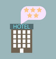 hotel icon isolated on white background simple vector image vector image