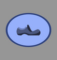 icon in flat design fashion footwear shoe vector image vector image